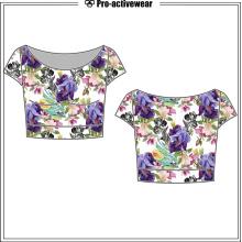Nuevo diseño cómodo de algodón suave señora mujer t-shirt