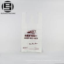 Preiswerte Nahrungsmittelgrad-T-Shirt Plastikeinkaufstaschen