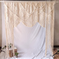 Hermosa cortina de puerta de macramé hecha a mano duradera y resistente