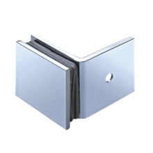 """2""""X2"""" Brass Nickel 90 Degree Shower Door Hanging Glass Clamp with Square Edge"""