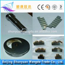 Peças avançadas da máquina do CNC do carboneto de tungstênio com chapeamento e alta qualidade