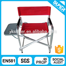 Adjustable beach director chair with table and cup holder