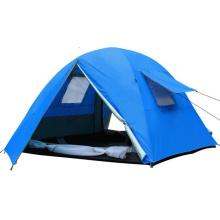 3-4 personne double couche tempête camping en plein air haute qualité tente