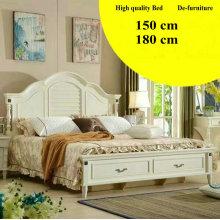 Cama de couro de chegada nova estilo coreano cama, mobília do quarto, (L098)