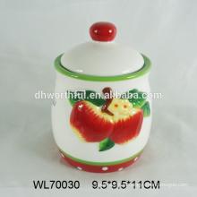2016 оптовая ручная роспись керамический чай мешок кэдди, керамический чай контейнер