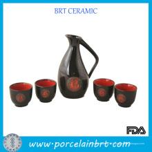 Ensemble-cadeau de saké chinois en porcelaine