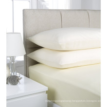 Factory Promotion White Cotton Fitted Sheet with Elastic Around (WSFI-2016020)