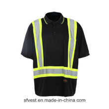 High Quality Safety Reflective T-Shirt with Black Color