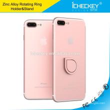 Icheckey nuevo diseño Soporte de anillo móvil de metal con dedo Soporte universal para teléfono de 360 grados
