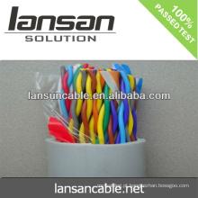 LANSAN Alta velocidade 100 cabos do LAN do cabo do cat5e do cat5e CE UL ISO APPROVAL