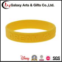 Alta qualidade pulseiras venda quente personalizado logotipo gravado esportes produtos de Silicone