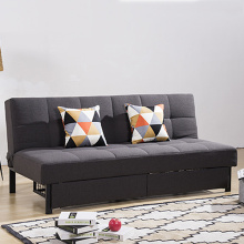 Folding Metal Legs Fabric Storage Sofa Bed