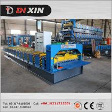 Tipo de aço galvanizado Dixin Máquina de telhado de papelão ondulado