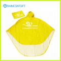 Polyester PVC Unisex Folding Rain Poncho for Motorcycle Rpy-064