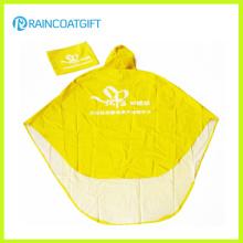 Poncho de pluie se pliant unisexe de PVC de polyester pour la moto Rpy-064