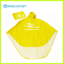 Polyester PVC Unisex Folding Rain Poncho for Motorcycle Rpy-064
