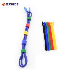 Cable de las ataduras de alambre del lazo de gancho de doble cara para el organizador del cordón