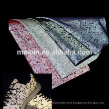 Tissu irisé de maille réfléchissante pour des chaussures de sport
