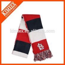 Оптовые пользовательские акриловые вертикальные полоски вязать шарф