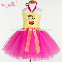 2017 nueva moda Lindo Minions Girls Dress Cosplay Minion Girls Tutu Vestido Party Performance Princess Tulle Dresses al por mayor