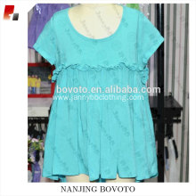 Summer blue dress cotton cute bow dress