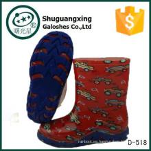 botas de lluvia desnudas del muchacho del niño del alto talón de los niños del medio precio D-518