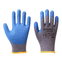 10G 2Yarn TC Cotton Liner Latex Crinkle Coated Construction Work Gloves