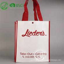 Bolsa de compras publicitaria no tejida reciclable de encargo de los pp