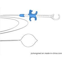 CE marcado endoscópico giratorio lazo de polipectomía