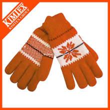 Fashion knit custom acrylics wool gloves