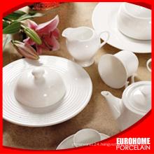 Hotel & restaurant white tableware for wedding use porcelain banquet crockery