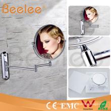 Espejo de pared de baño redondo Espejo de baño de maquillaje LED