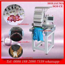 Solo cabeza de hogar utiliza máquina de bordar para ropa tapa plana Logo bordado