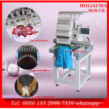 New Computerized Embroidery Machine / Single Head 15 Color Cap Tshirt Embroidery Machine