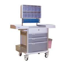 Chariot multifonctionnel d'anesthésie de tiroir de 3 couches d'hôpital