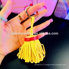 Yiwu fournisseur sac pendentif en gros talon en cuir tassel