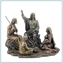 Life Size Antitique Bronze Religious Jesus Sculpture