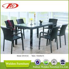 Móveis de vime, mesa de jantar e cadeiras (DH-6122)