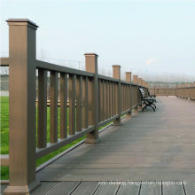 Outdoor Excellent Quality Perforated Wood Plastic Composite Balcony Excel Railing / Handrails for Scenic Area