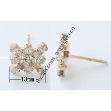 Gets.com latón 9 ct real oro stud earrings aguamarina