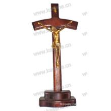 Religious Wooden Catholic Crucifix, Handmade Wooden Crucifix