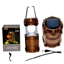 Aluminium Solar Multifuctional USB Outdoor LED Camping Light (OS15053)