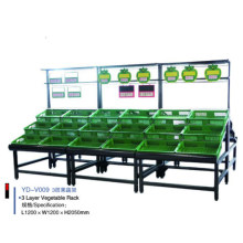 Stainless Steel Supermarket Fruit and Vegetable Display Rack