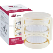 Set of 3 Ceramic food container with handle
