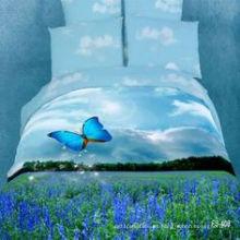 Juego de edredón de sábanas 100% algodón Juego de cama reajuuso reactivo 3D
