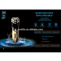 afeitadora rotatoria lavable inalámbrica triple profesional de la cuchilla recargable para los hombres con las cabezas flotantes 3D