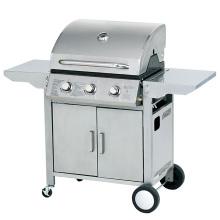 Barbecue à gaz à 3 brûleurs avec tables d'appoint pliables