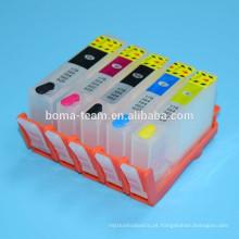 HP670XL HP655XL HP685XL cartucho de tinta recarregável para HP Deskjet Ink vantagem 3525 5515 4615 4625 impressoras