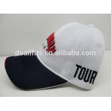 Hochwertige Golf-Baumwoll-Mesh-Kappe mit 3D-Stickerei-Sport-Baseballmütze