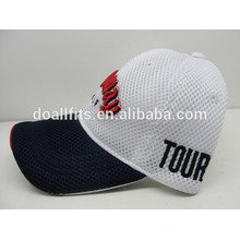 high quality golf cotton Mesh cap with 3D embroidery sports baseball cap